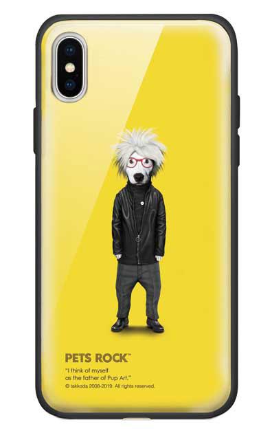iPhoneXSのガラスケース、《PETS ROCK》Soup【スマホケース】