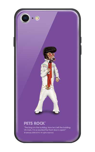iPhone8のガラスケース、《PETS ROCK》Vegas【スマホケース】
