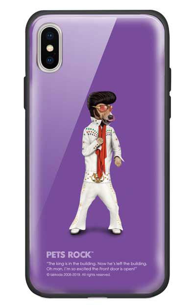iPhoneXSのガラスケース、《PETS ROCK》Vegas【スマホケース】