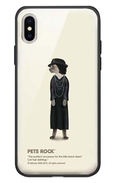 iPhoneXSのガラスケース、《PETS ROCK》Paris Full Length【スマホケース】