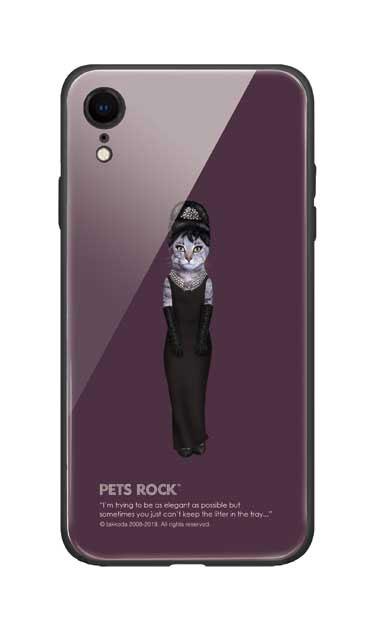 iPhoneXRのガラスケース、《PETS ROCK》Breakfast Full Length【スマホケース】