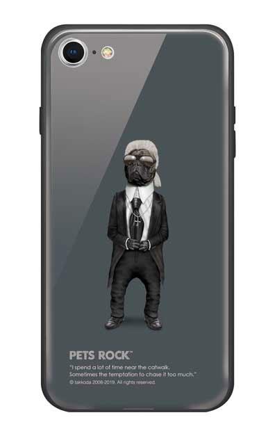 iPhone8のガラスケース、《PETS ROCK》Fashion Full Length【スマホケース】