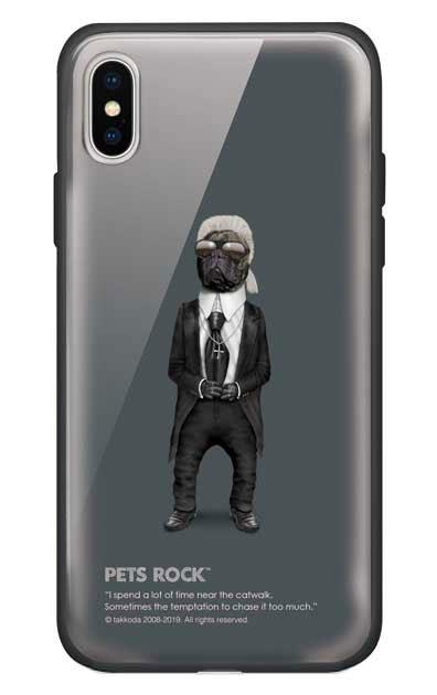 iPhoneXSのガラスケース、《PETS ROCK》Fashion Full Length【スマホケース】