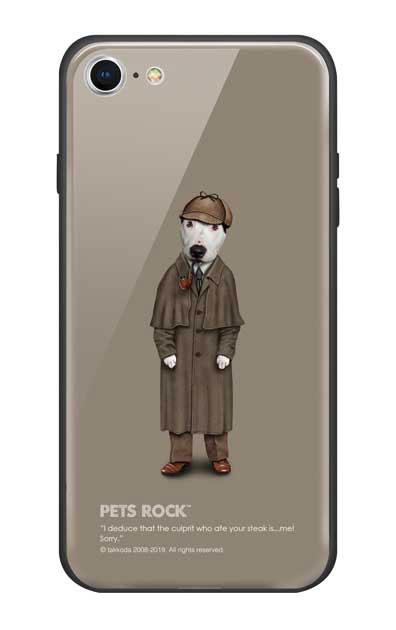 iPhone8のガラスケース、《PETS ROCK》Detective【スマホケース】