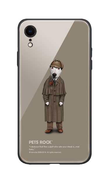 iPhoneXRのガラスケース、《PETS ROCK》Detective【スマホケース】
