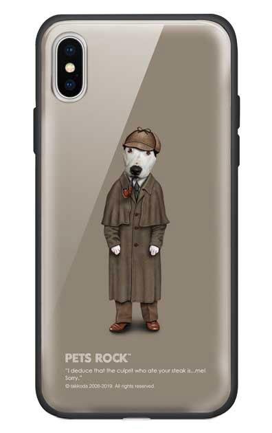 iPhoneXSのガラスケース、《PETS ROCK》Detective【スマホケース】