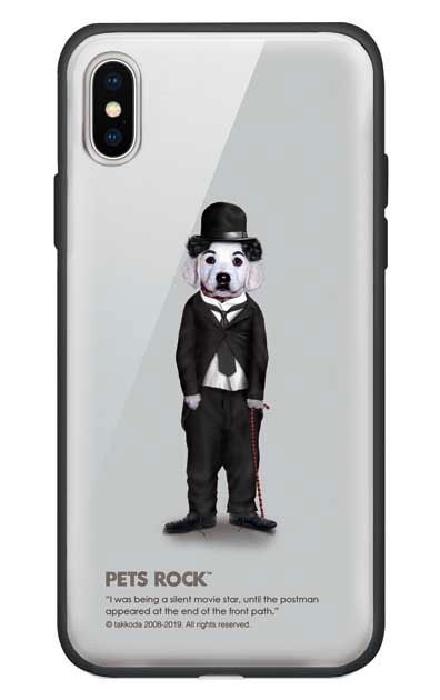 iPhoneXのガラスケース、《PETS ROCK》Tramp Full Length【スマホケース】