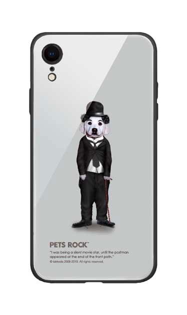iPhoneXRのガラスケース、《PETS ROCK》Tramp Full Length【スマホケース】