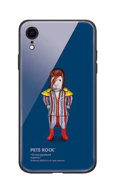 iPhoneXRのガラスケース、《PETS ROCK》Glam Rock【スマホケース】