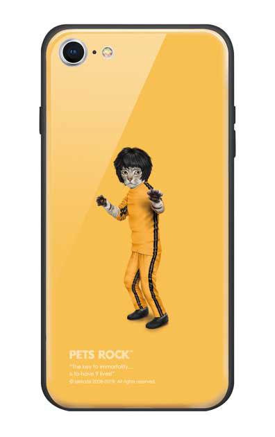 iPhone8のガラスケース、《PETS ROCK》Kung Fu【スマホケース】