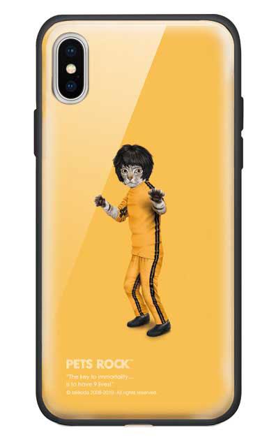 iPhoneXのガラスケース、《PETS ROCK》Kung Fu【スマホケース】