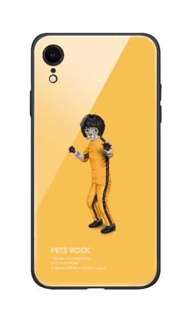 iPhoneXRのガラスケース、《PETS ROCK》Kung Fu【スマホケース】