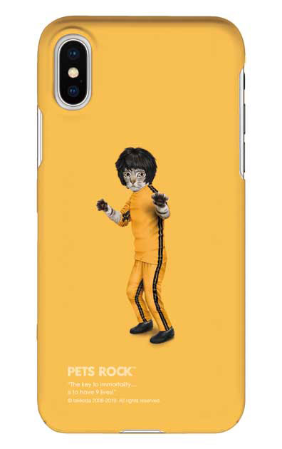 iPhoneXSのケース、《PETS ROCK》Kung Fu【スマホケース】