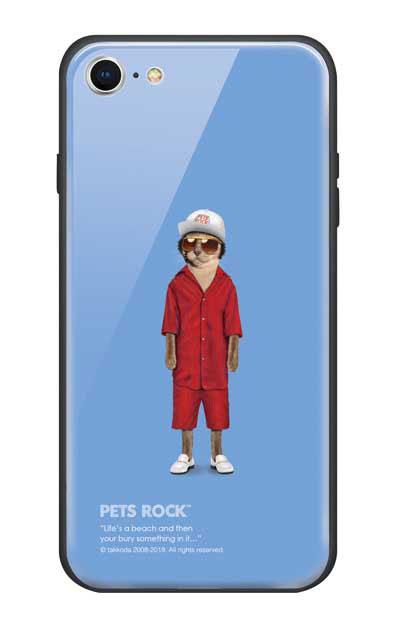 iPhone8のガラスケース、《PETS ROCK》Mr Mercury【スマホケース】