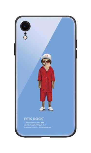 iPhoneXRのガラスケース、《PETS ROCK》Mr Mercury【スマホケース】