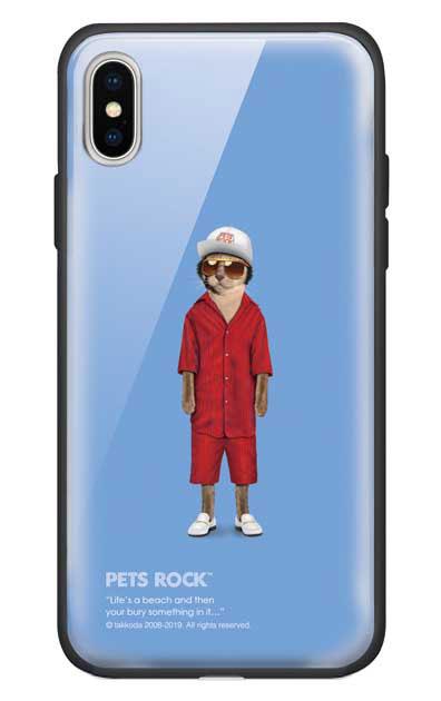 iPhoneXSのガラスケース、《PETS ROCK》Mr Mercury【スマホケース】