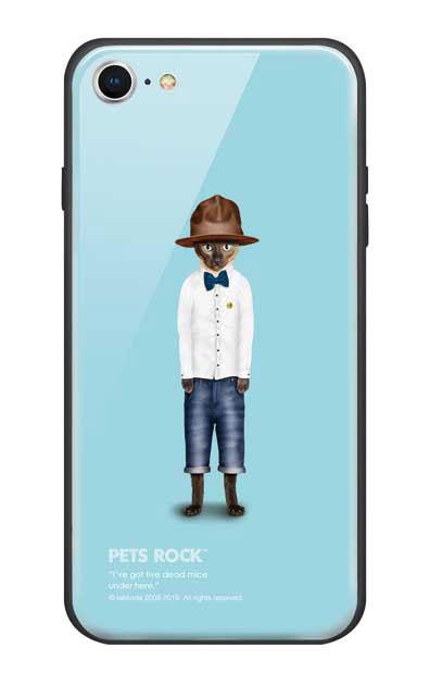 iPhone8のガラスケース、《PETS ROCK》Purrell【スマホケース】