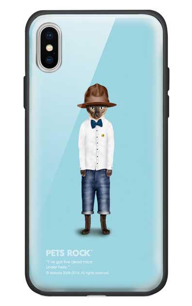 iPhoneXのガラスケース、《PETS ROCK》Purrell【スマホケース】