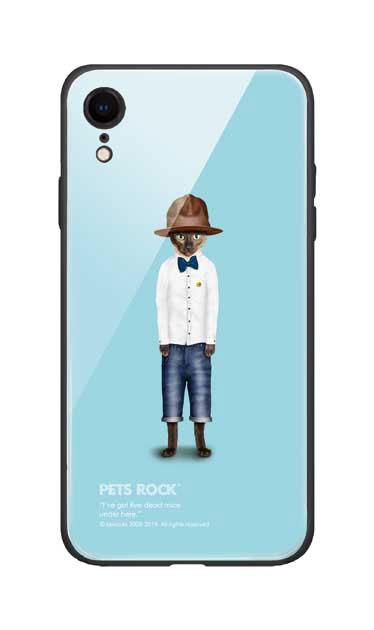 iPhoneXRのガラスケース、《PETS ROCK》Purrell【スマホケース】