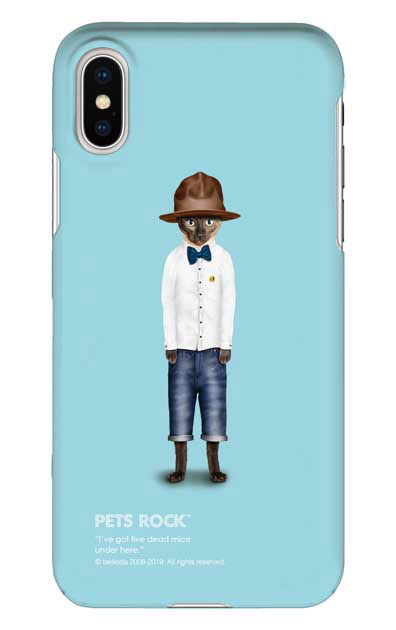 iPhoneXSのケース、《PETS ROCK》Purrell【スマホケース】