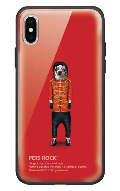 iPhoneXのガラスケース、《PETS ROCK》Pop【スマホケース】