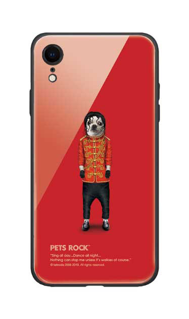 iPhoneXRのガラスケース、《PETS ROCK》Pop【スマホケース】