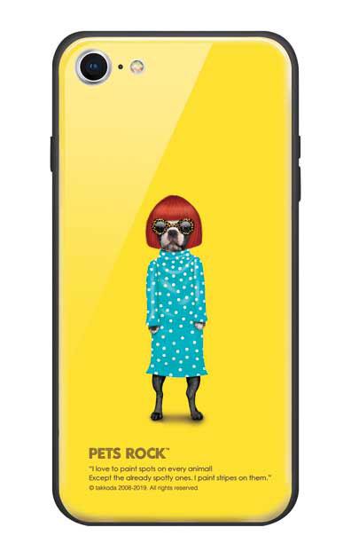 iPhone8のガラスケース、《PETS ROCK》Spots【スマホケース】