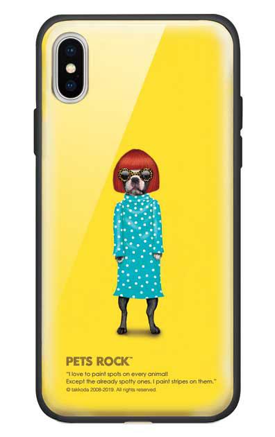 iPhoneXのガラスケース、《PETS ROCK》Spots【スマホケース】
