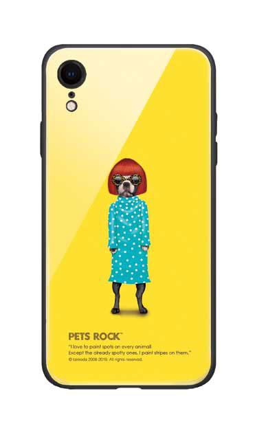 iPhoneXRのガラスケース、《PETS ROCK》Spots【スマホケース】