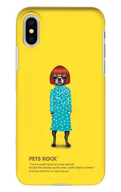 iPhoneXSのケース、《PETS ROCK》Spots【スマホケース】