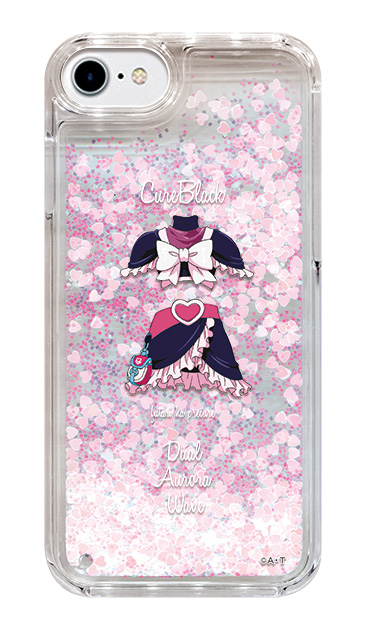 iPhone6sのグリッターケース、キュアブラック【コスチューム】