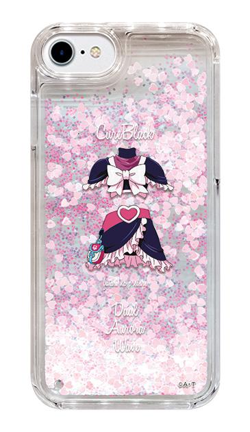 iPhone8のグリッターケース、キュアブラック【コスチューム】