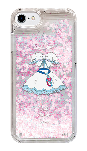 iPhone7のグリッターケース、キュアホワイト【コスチューム】