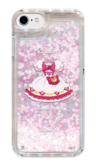 iPhone8のグリッターケース、キュアホイップ【コスチューム】