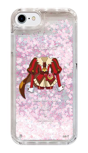 iPhone8のグリッターケース、キュアショコラ【コスチューム】